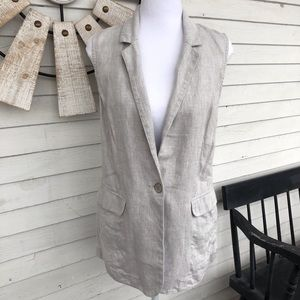 Sparkle Silver and Grey Collared Vest